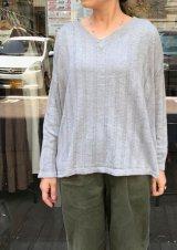 【quand rayon knit v-neck】クワンド レーヨンニット Vネック(2カラー展開)